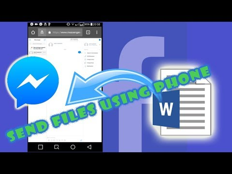 How To Send FILES On Messenger Using Smart Phone