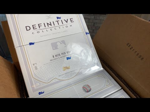$1,000 PER PACK!  2019 TOPPS DEFINITIVE COLLECTION CASE BREAK!