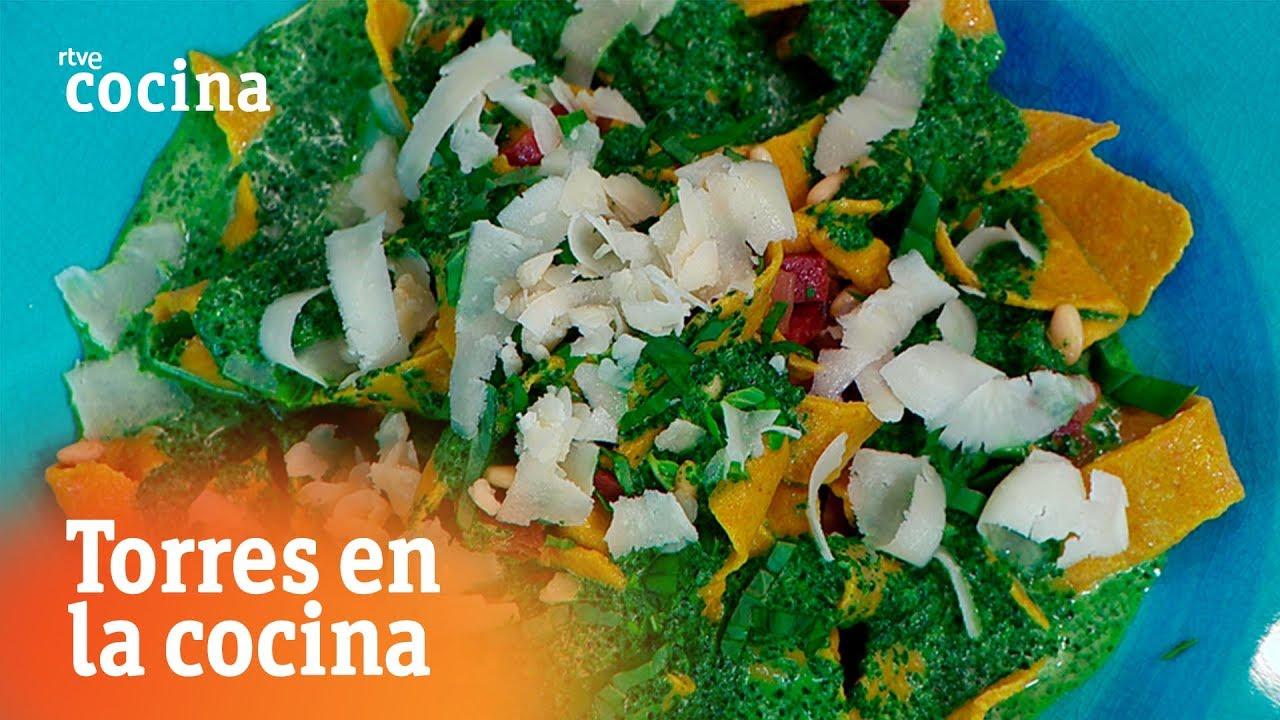 Pasta de quinoa con crema de espinacas torres en la for Torres en la cocina youtube