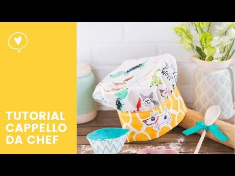 Tutorial cappello chef misura bambino youtube for Cucina giocattolo fai da te