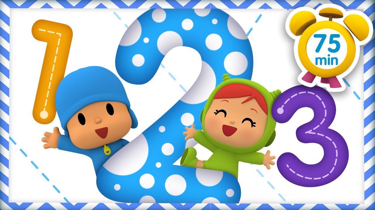🔢 POCOYO in ENGLISH - Learn with Pocoyo Numbers [75 min] Full Episodes | VIDEOS & CARTOONS for KIDS