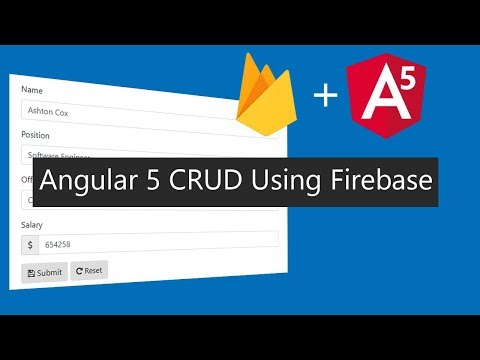 Angular 5 CRUD Operations With Firebase