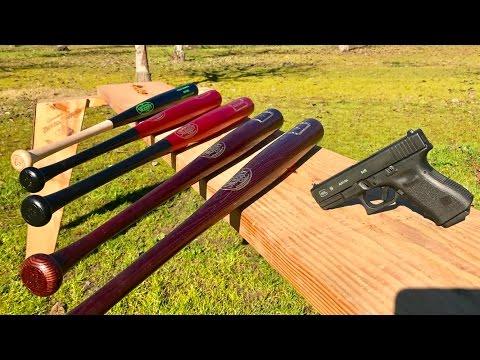 9MM VS BASEBALL BAT - WALKING DEAD EDITION - can a baseball bat stop a bullet ?