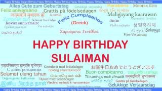 Sulaiman   Languages Idiomas - Happy Birthday