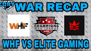 WHF VS ELITE GAMING WAR RECAP, CWL INVITE SEASON 5 WEEK #4