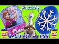 SURPRISE TOY & EGG BACKPACK TIME! Disney Frozen Book Bag Play Doh Surprise Egg Toys