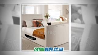 Cream Leather Tv Bed - Kaydian Stanton