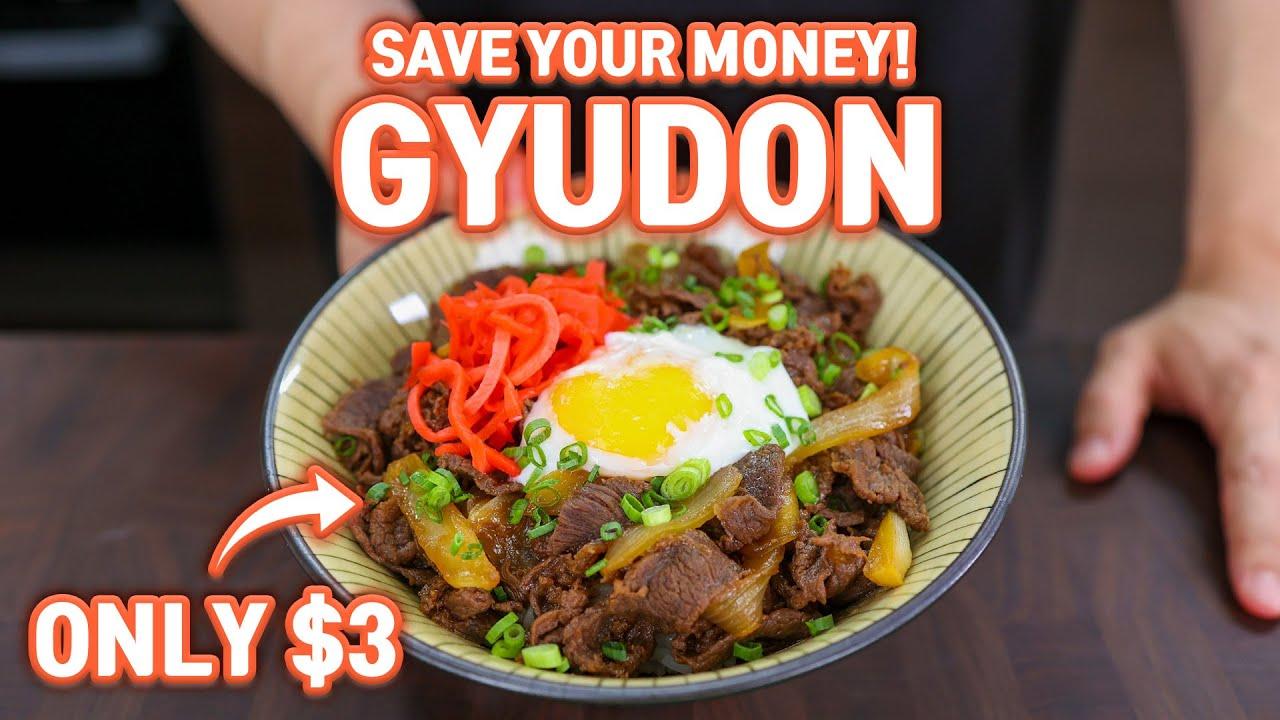 3 Dollar Authentic GYUDON Japanese Beef Rice Bowl (Yoshinoya Style) l Save Your Money
