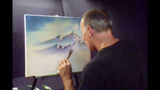 Oil Paint a Winter Moon Over Looking a Frozen Stream Volume 2 Lesson # 42