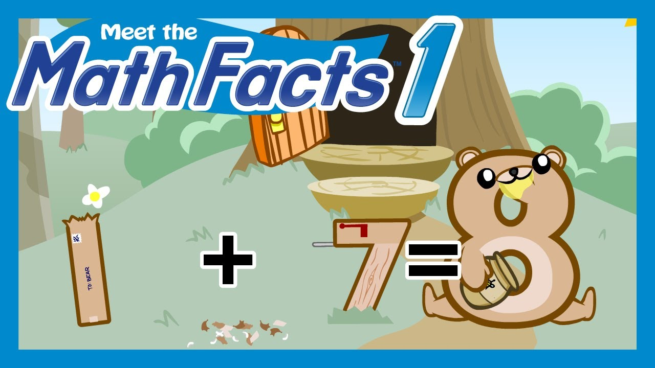 Meet the Math Facts Level 1 - 1+7=8 - YouTube
