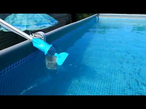 Как работает ручной пылесос для бассейна видео