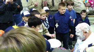 Cub Master John gets a pie in the face part 2 Pack 91 Munson Thumbnail