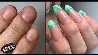 Ногти после карантина Арочные формы Выкладной френч Летний маникюр
