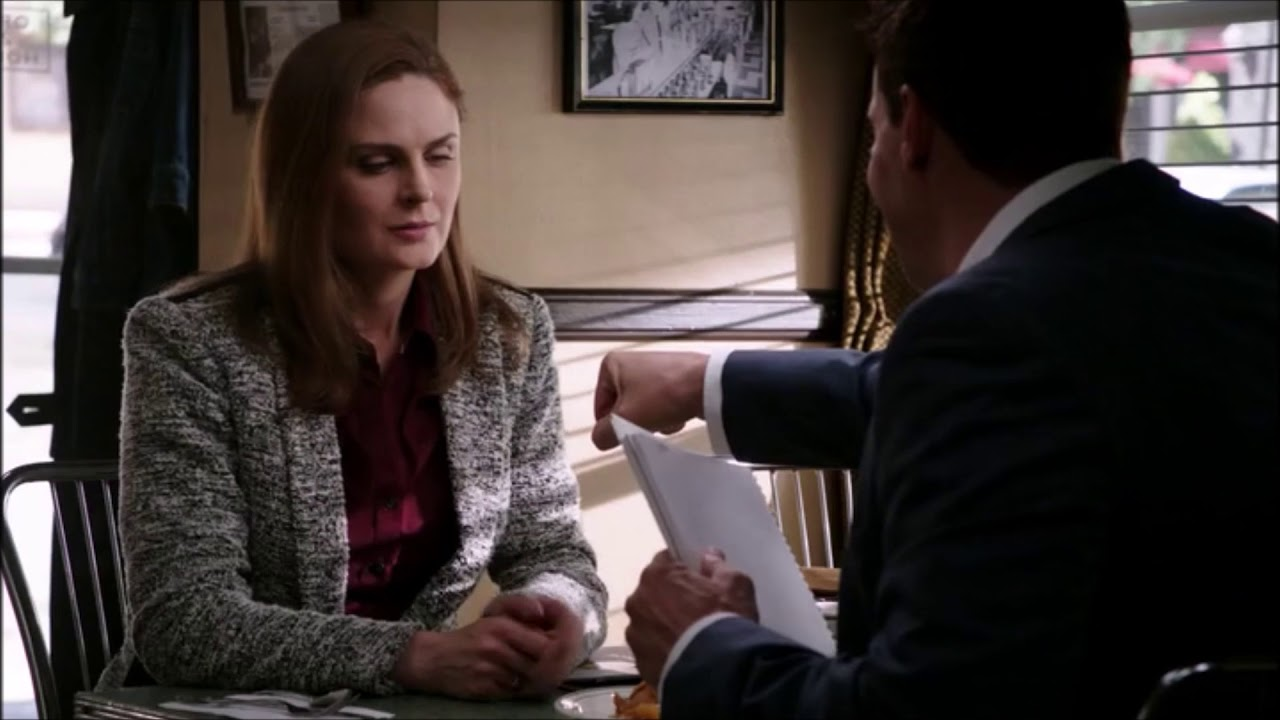 Brennan and Booth Trying to Fist Bump (Bones)