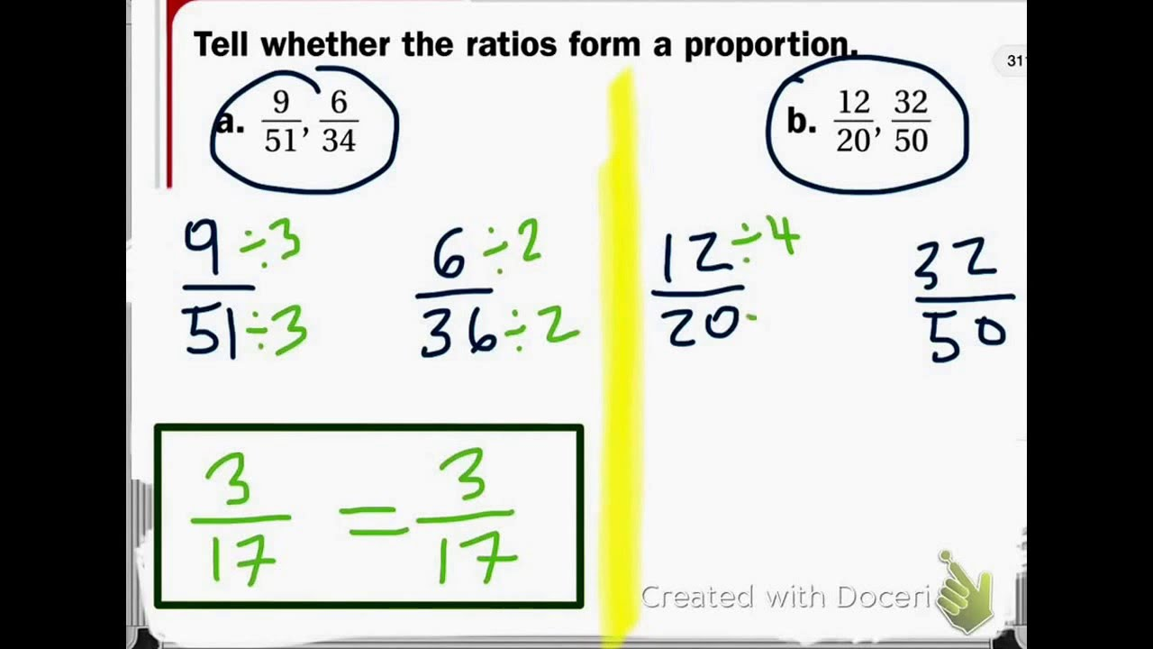 Ratio that does not form a proportion - YouTube