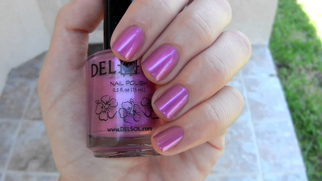 Showing the Color Change in Del Sol Polish Foxy - YouTube