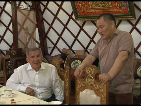 Визит Президента Республики Татарстан Рустама Минниханова в Республику Тыва