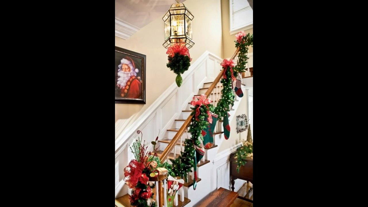 Hermosos adornos navide os para escaleras 2016 2017 youtube - Adornos de pared ...