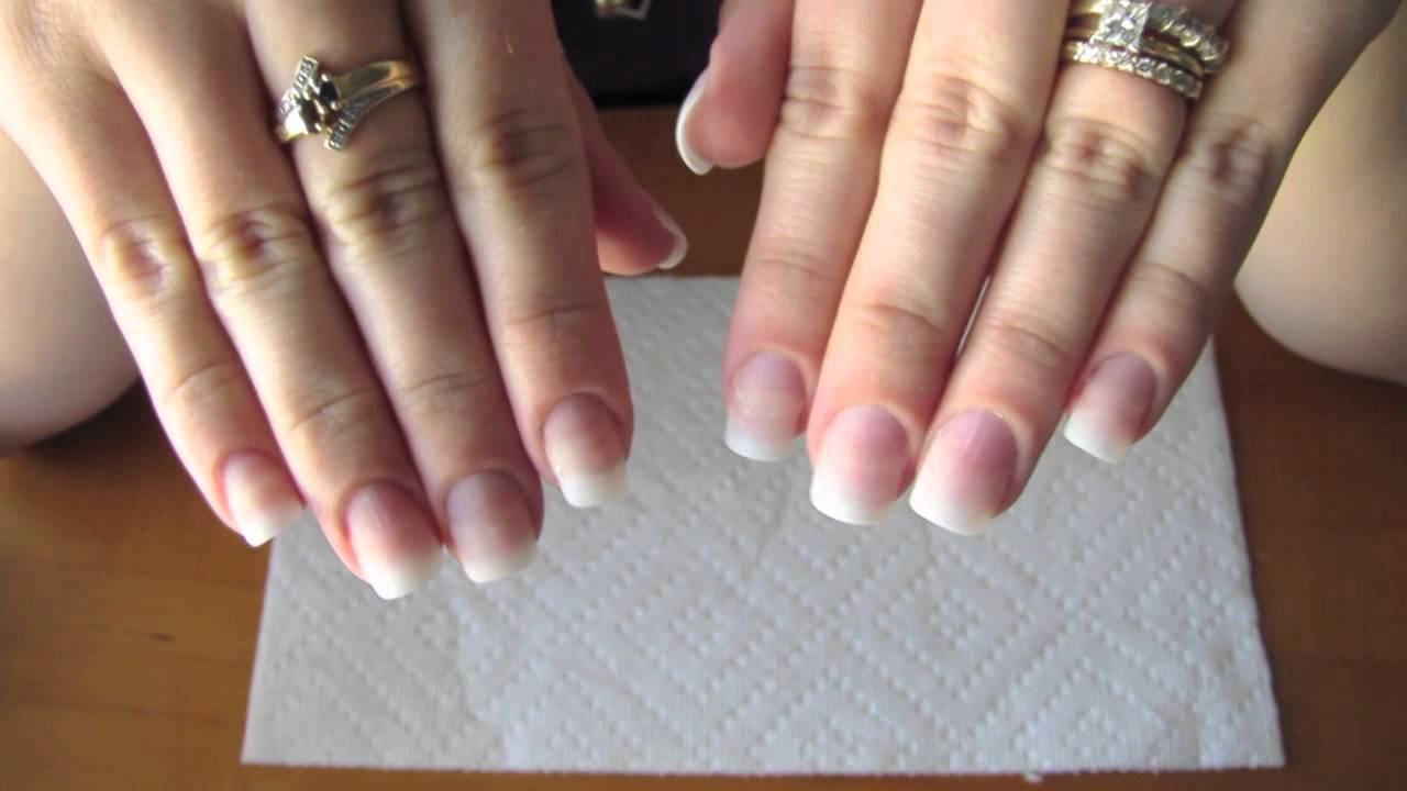 Adding length to your natural nail using tip extensions and gel ...