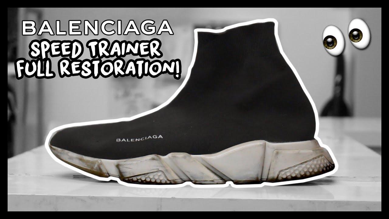 BALENCIAGA SPEED TRAINER FULL RESTORATION!