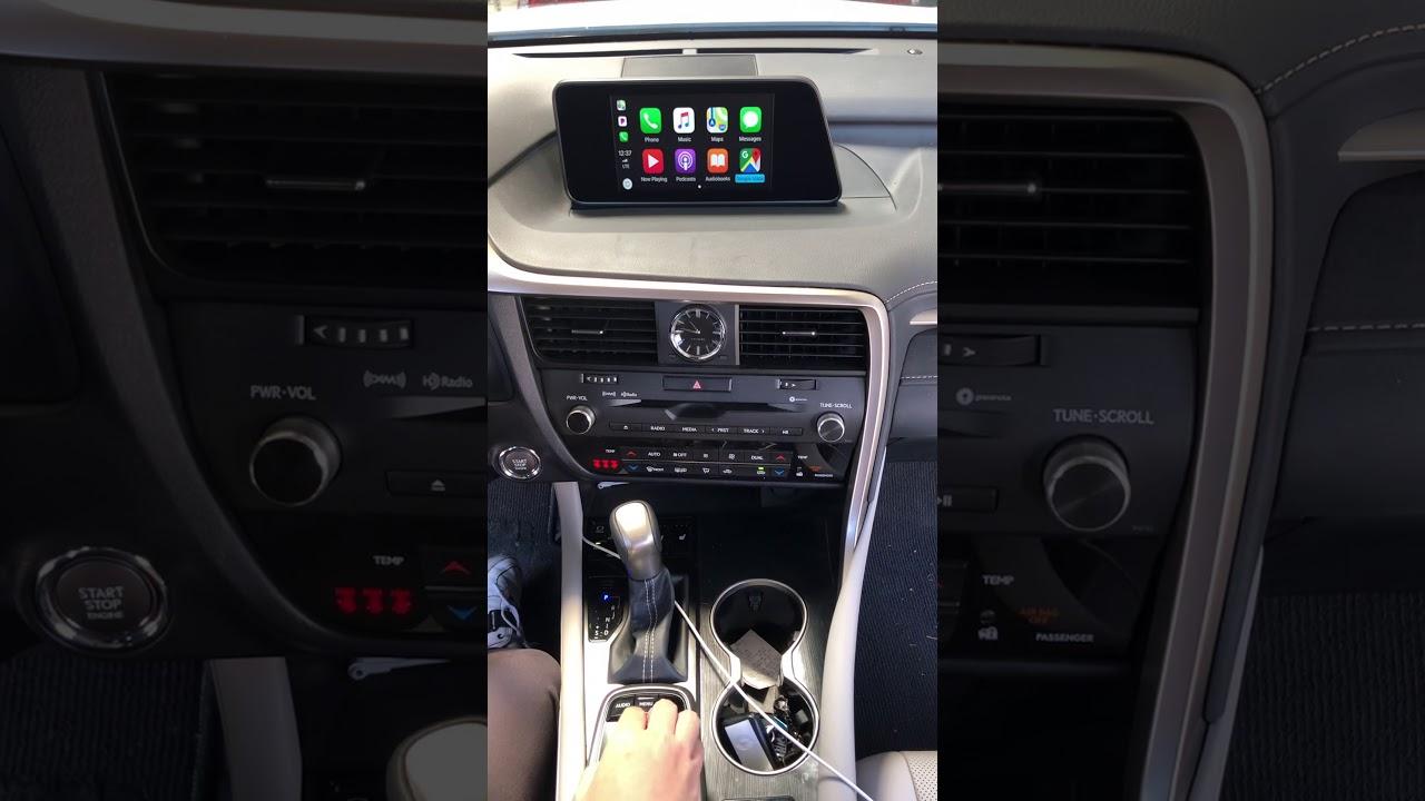 Apple CarPlay OEM Retrofit on 2019 USA LEXUS RX450h without OEM NAV Model  (Jog Dial) LX1219IEB Kit