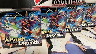 Opening Four More Cardfight Vanguard A Brush With The Legends Booster Boxes