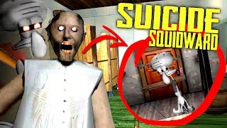 MODDING GRANNY Into SUICIDE SQUIDWARD... (Granny Horror Game + Krusty Krab Roleplay)