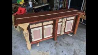 Building a Split Top, Roubo Style, Cabinet Base, Mobile, Workbench
