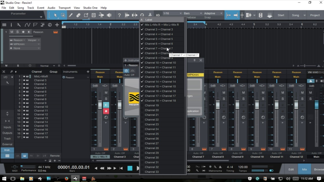 Learn Studio One 3  Rewire  Using Reason in Studio One
