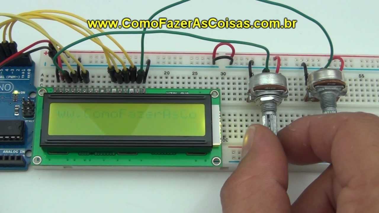 Projeto arduino com display lcd youtube