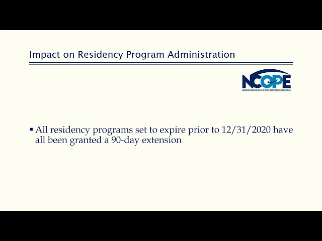 ABC & NCOPE Roundtable Discussion on COVID-19's Impact on Residency and Certification