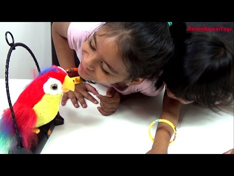 Polly The Talk Back Parrot | Kids Fun Talking Toy | Unboxing & Review | Moves & Imitates