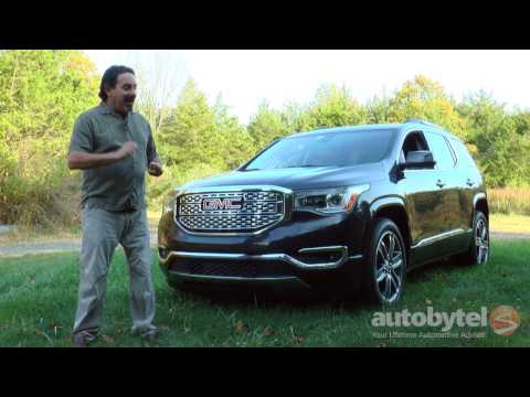 2017 GMC Acadia Denali Test Drive Video Review - 3 Row Crossover SUV