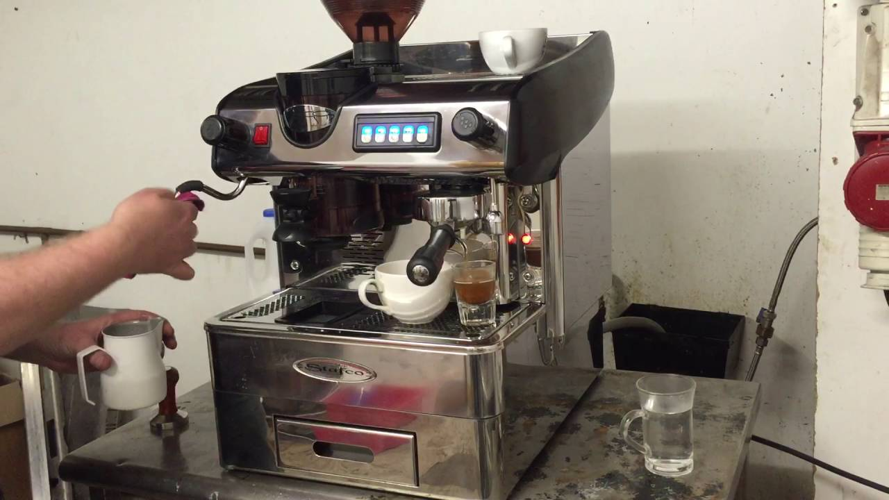 Stafco 1 Group With Grinder Traditional Espresso Machine Refurbished