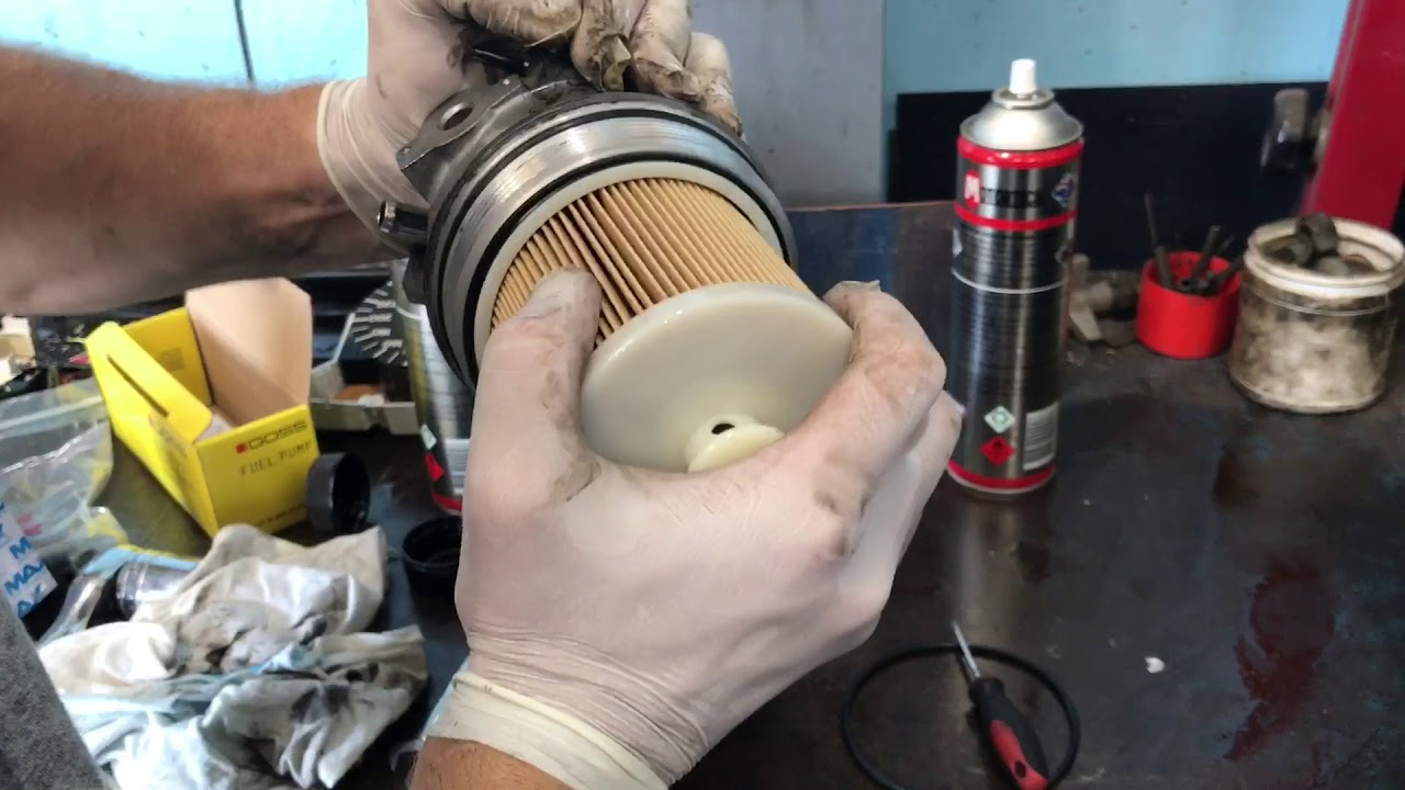 Isuzu NPR Fuel Filter Replacet - YouTube