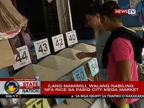 SONA: Ilang mamimili, walang nabiling NFA rice sa Pasig City mega market