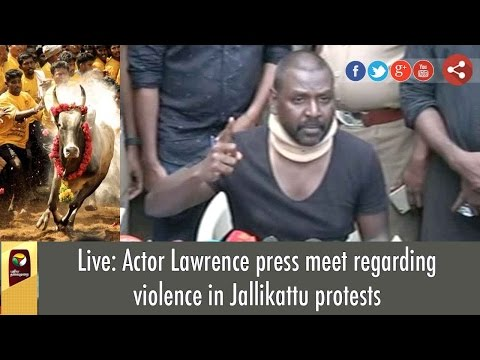 Live: Actor Lawrence Press Meet on Violence in Jallikattu Protest in Marina, Chennai