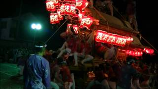 平成23年 太子町山田 だんじり祭り 役場パレード 西 科長神社祭礼 2011 07 23 土