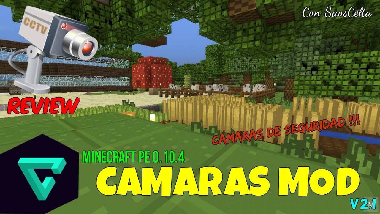 Cámaras De Seguridad Mod Minecraft Pe 0 10 X Descarga Español Oficial Youtube