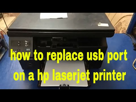 How To Replace Usb Port On Hp Laserjet Printer