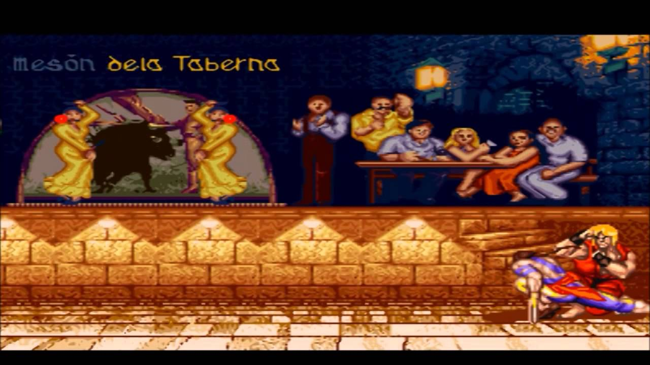 Ken Vs Vega Street Fighter Ii Snes Stage Sin Reja Youtube
