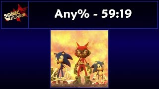 Sonic Forces - Any% Speedrun - 59:19