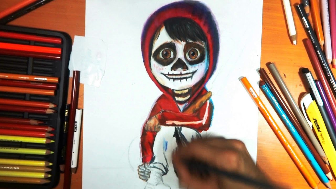 Dibujando A Miguel Rivera De Coco Disney Pixar Especial De Día De