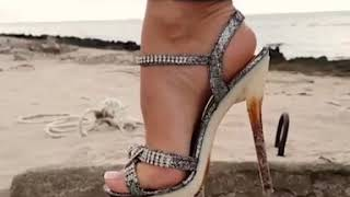High heels at the beach | #femdom #footfetish