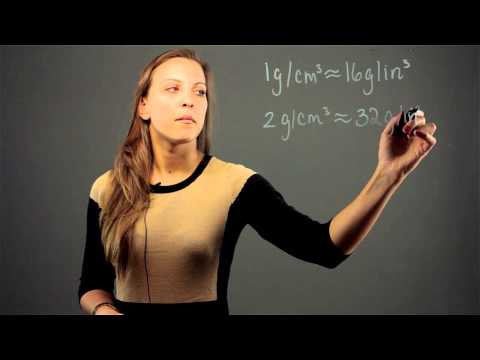 How to Convert Grams Per Cubic Centimeter to Grams Per Cubic I... : Math Conversions & Calculations