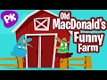 Old MacDonald's Funny Farm | Music for Kids, Kids Songs, Nursery Rhymes, Children Songs