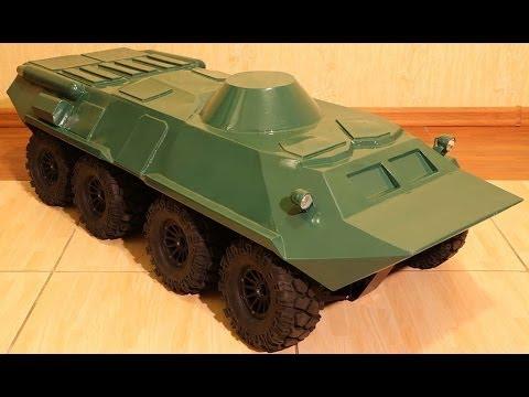 RC BTR-80 building (постройка БТР-80) scale 1/6