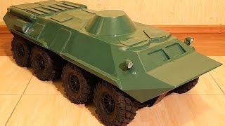 RC BTR-80 building (постройка БТР-80) scale 1/6