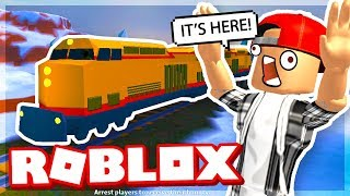 FIRST TRAIN ROBBERY ON JAILBREAK! - ROBLOX
