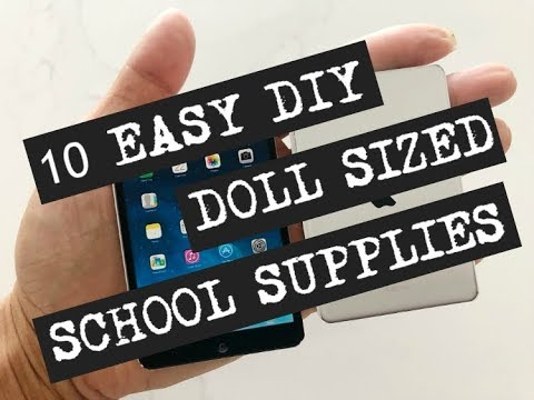 10 DIY Doll School Supplies